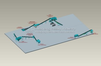 2t/h Fertilizer Extrusion Granulation Process